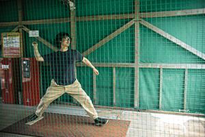 5.宮田くんも投げました。一投当たったかな…?笑