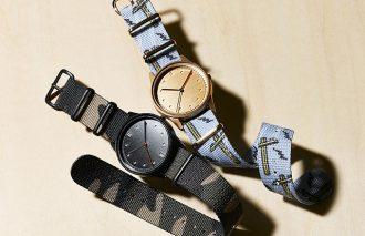 NATOベルトに描かれたグラフィックプリントが美しい腕時計