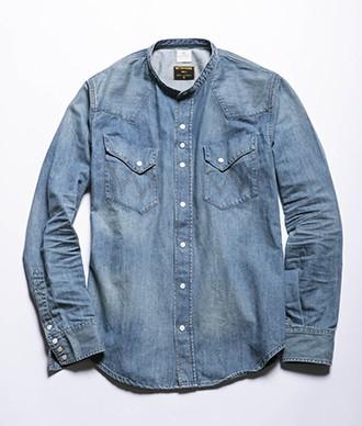 メタファー×ラングラーのデニムウエスタンシャツ