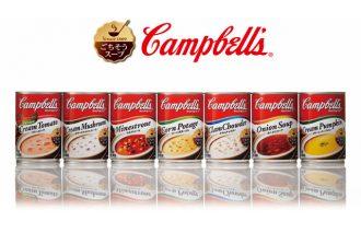 キャンベル濃縮缶スープ7種が美味しさそのままに洗練されたデザインに!!