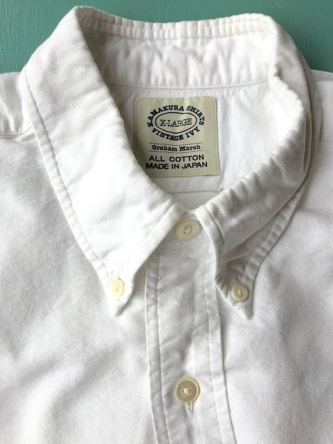 〈キャピタル〉ジーンズ&〈鎌倉シャツ〉B.Dシャツ