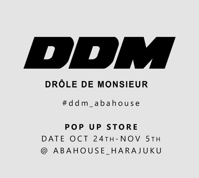 【ABAHOUSE HARAJUKU】にて【DROLE DE MONSIEUR (ドロール・ド・ムッシュ)】のポップアップストアがオープン!