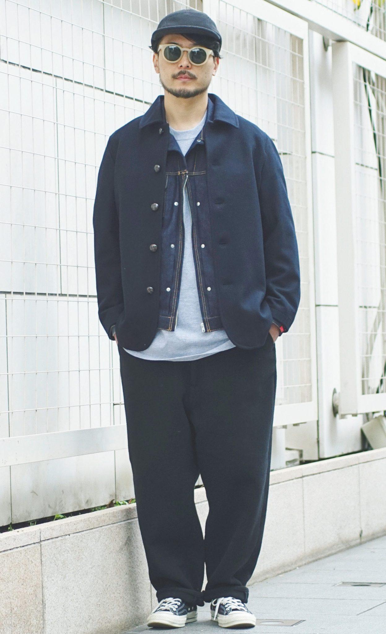 セイ デザイナー 中山善仁さん メルトンジャケットを着用 約1万3797円