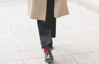 ロングコートとボトムス丈の関係 コートの着丈で裾丈は決まる!