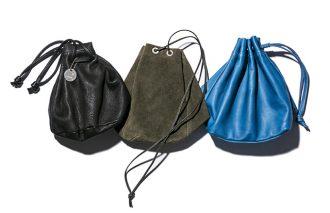 バッグの次なるトレンド「キンチャク袋」は、大人ならレザーで。