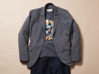 ジャケット着ても脱いでも、おしゃれなTシャツコーデ #1