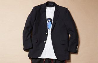 ジャケット着ても脱いでも、おしゃれなTシャツコーデ #12