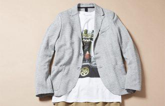 ジャケット着ても脱いでも、おしゃれなTシャツコーデ #9