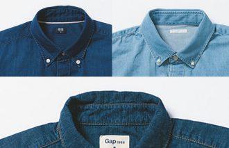 【2018年版】着て洗って計測!ユニクロ、GU、GAP「デニムシャツ」徹底比較!