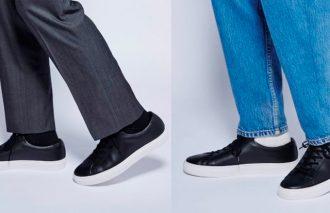 スーツにも私服にも似合う二刀流で使えるONOFFスニーカー