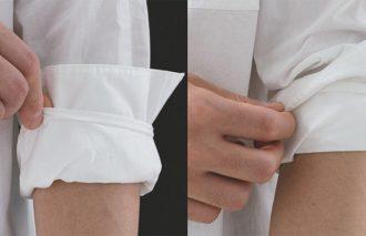 【これだけやれば、おしゃれに見える白シャツの着こなしちょいテク】 腕まくり&タックインでカッコよく