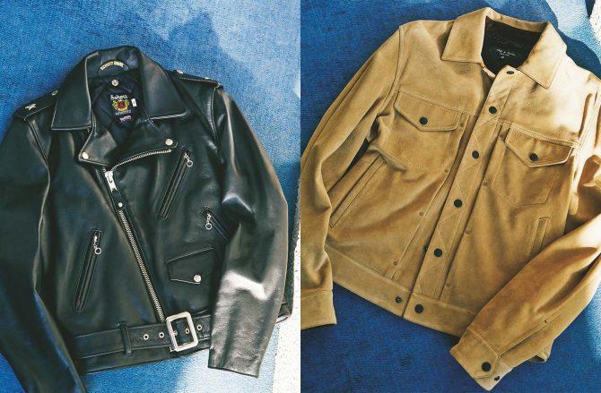ライダースかGジャンタイプか、男っぽく着るレザージャケットの2択