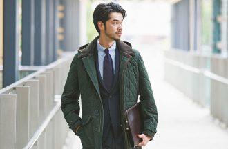 今冬、ビジネスアウターは「ウール地」のキルティングジャケットがトレンド