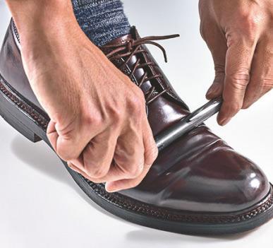 入れ 革靴 シワ