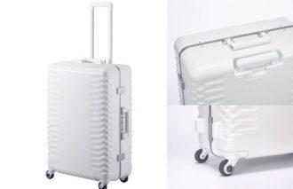 業界に大革命!! 抗菌・抗ウィルス性能キャスターや抗菌防臭の内装生地を採用した純白スーツケース